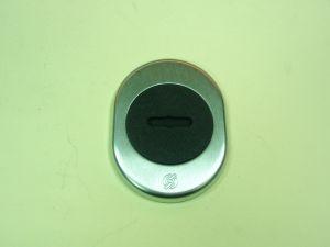 Розетка касова комплект,сат.хром.