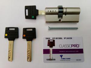 Секретен патрон CLASSIC-PRO 31/40 с малко зъбно колело,никел,с 3 ключа.