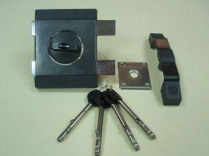 Брава GERDA TYTAN ZX  LK, допълнителна с врътка и удължени ключове. Цвят- графит. Лява.