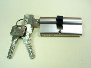 """Секретен патрон """"ЕЛИТ 2А"""" Никел.С 5 ключа.С палец по БДС.Различни размери.РАЗПРОДАЖБА."""