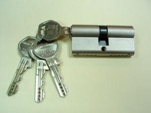 Секретен патрон GEGE AP3000 Никел.С 4 ключа.С палец по ДИН.Различни размери.