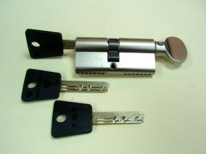"""Секретен патрон """"MUL-T-LOCK 7X7""""Никел.С ръкохватка от дългата страна.С 3 ключа С палец по ДИН или УНИВЕРСАЛЕН..Различни размери."""