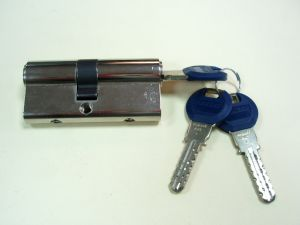 """Секретен патрон """"KABA EXPERT"""".Стандартен.Никел.С палец по ДИН.С различен брой ключове.Различни размери."""