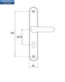 Дръжка MAUER 137  обикновен ключ 70мм.жълта.